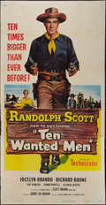 "Ten Wanted Men (Columbia, 1955). Three Sheet (40.5"" X 79""). Action"
