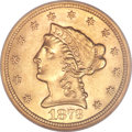 Liberty Quarter Eagles, 1873-S $2 1/2 MS61 NGC....