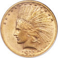 Indian Eagles, 1911-S $10 MS62 NGC....