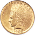 Indian Eagles, 1908-S $10 MS61 NGC....