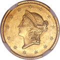 1849-C G$1 Closed Wreath MS61 NGC