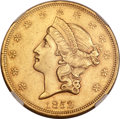 Liberty Double Eagles, 1852 $20 AU55 NGC. CAC....