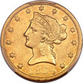 Liberty Eagles, 1854-O $10 Large Date AU53 PCGS. Variety 1....