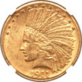 Indian Eagles, 1911-D $10 AU58 NGC. CAC....