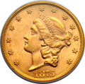 Liberty Double Eagles, 1875 $20 MS62 PCGS....