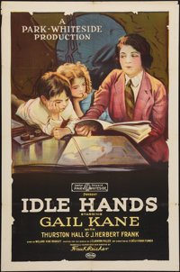 "Idle Hands (Pioneer, 1921). One Sheet (27"" X 41""). Drama"