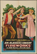 "Movie Posters:Comedy, Fireworks (Reelcraft, 1920). One Sheet (28"" X 41""). Comedy.. ..."