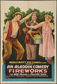 "Fireworks (Reelcraft, 1920). One Sheet (28"" X 41""). Comedy"