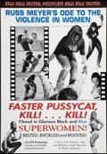 "Movie Posters:Sexploitation, Faster, Pussycat! Kill! Kill! (Eve Productions, R-2000). One Sheet(27"" X 40""). Sexploitation.. ..."