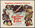 "Movie Posters:Drama, The Greatest Show on Earth (Paramount, 1952). Half Sheet (22"" X 28"") Style B. Drama.. ..."