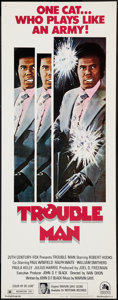 "Movie Posters:Blaxploitation, Trouble Man (20th Century Fox, 1972). Insert (14"" X 36""). Blaxploitation.. ..."