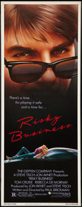 "Movie Posters:Comedy, Risky Business (Warner Brothers, 1983). Insert (14"" X 36""). Comedy.. ..."