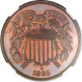 Patterns, 1865 2C Two Cents, Judd-408, High R.7, PR63 Red and Brown NGC....