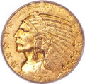 Indian Half Eagles, 1911-S $5 MS63 PCGS....