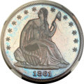 Patterns, 1861 P50C Half Dollar, Judd-280, Pollock-331, Low R.7, PR66+ Red and Brown Cameo NGC....
