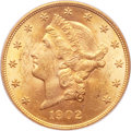 Liberty Double Eagles, 1902 $20 MS62 PCGS....