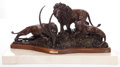 Sculpture, LORENZO E. GHIGLIERI (American, b. 1931). Lions Pride, 1983. Bronze with patina. 16 inches (40.6 cm). Ed. 6/20. Signed a... (Total: 2 Items)