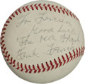 Autographs:Baseballs, 1970 Frank Frisch Single Signed Baseball. ...