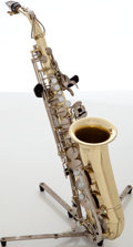 Musical Instruments:Horns & Wind Instruments, 1980s Yamaha JAS-23 Brass Alto Saxophone, Serial # 135331. ...