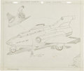 Original Comic Art:Miscellaneous, Jack Kirby Thundarr the Barbarian War Wizard Shuttle CraftAnimation Concept Sketch Original Art (undated)....