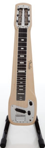 Musical Instruments:Lap Steel Guitars, 1956 Fender Champ Tan Lap Steel Guitar, Serial # 005487. ...