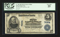 National Bank Notes:Maryland, North East, MD - $5 1902 Plain Back Fr. 598 The First NB Ch. #7064. ...