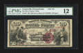 National Bank Notes:Pennsylvania, Coatesville, PA - $20 1882 Brown Back Fr. 494 The NB of ChesterValley Ch. # 575. ...