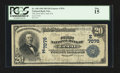 National Bank Notes:Pennsylvania, Cecil, PA - $20 1902 Plain Back Fr. 650 The First NB Ch. # (E)7076....