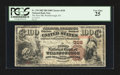 National Bank Notes:Pennsylvania, Wellsborough, PA - $100 1882 Brown Back Fr. 519 The First NB Ch. #328. ...