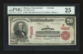 National Bank Notes:Pennsylvania, Midway, PA - $20 1902 Red Seal Fr. 639 The Midway NB Ch. # (E)6626....