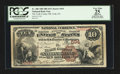 National Bank Notes:Pennsylvania, York, PA - $10 1882 Brown Back Fr. 480 The York County NB Ch. #694. ...