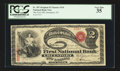National Bank Notes:New York, Greenport, NY - $2 Original Fr. 387 The First NB Ch. # 334. ...