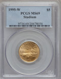 Modern Issues, 1995-W G$5 Olympic/Stadium Gold Five Dollar MS69 PCGS....