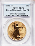 Modern Bullion Coins, 2006-W $50 One-Ounce Gold Eagle Reverse Proof PR70 PCGS....