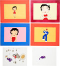 Animation Art:Limited Edition Cel, Betty Boop Production Cel Animation Art Group (c. 1960s)....(Total: 6 Original Art)