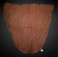 Paintings, A KENYAN BEADED LEATHER ROBE . Masaai, early 20th century. 38 inches long (96.5 cm). ...