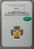 Commemorative Gold, 1905 G$1 Lewis and Clark MS62 NGC. CAC....