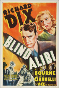 "Blind Alibi (RKO, 1938). One Sheet (27"" X 41""). Crime"