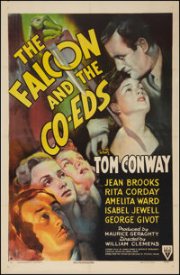 "The Falcon and the Co-eds (RKO, 1943). One Sheet (27"" X 41""). Mystery"