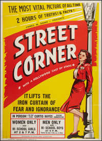 "Street Corner (Floyd Lewis Attractions, 1949). Poster (43"" X 60""). Exploitation"