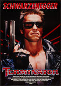 """Movie Posters:Science Fiction, The Terminator (Orion, 1984). German A0 (33"""" X 47""""). Science Fiction.. ..."""