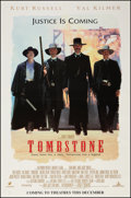"Movie Posters:Western, Tombstone (Buena Vista, 1993). British One Sheet (30"" X 44.5"") Advance. Western.. ..."