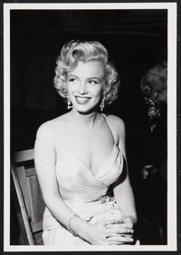 "Marilyn Monroe by Phil Stern (20th Century Fox, 1950s). Portrait Photo (7"" X 10""). Miscellaneous"