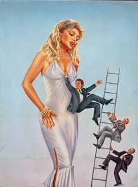 CHRISTINE FROMENTIN (American, 20th Century) The Boss' Wife, movie poster illustration, 1986 Acrylic