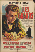"Movie Posters:Comedy, Les Grands (Pathé, 1924). French Affiche (31.5"" X 47""). Comedy.. ..."