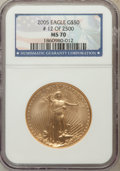 Modern Bullion Coins, 2005 G$50 One-Ounce Gold MS70 NGC. NGC Census: (0). PCGS Population(629). Numismedia Wsl. Price for problem free NGC/PCGS...