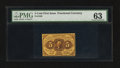 Fractional Currency:First Issue, Fr. 1228 5¢ First Issue PMG Choice Uncirculated 63.. ...