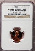 Proof Lincoln Cents: , 1986-S 1C PR69 Ultra Cameo NGC. NGC Census: (423/15). PCGSPopulation (2968/59). Numismedia Wsl. Price for problem free NG...