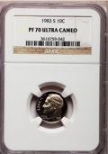 Proof Roosevelt Dimes: , 1983-S 10C PR70 Ultra Cameo NGC. NGC Census: (162). PCGS Population(176). Numismedia Wsl. Price for problem free NGC/PCGS...