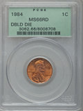 Lincoln Cents: , 1984 1C Doubled Die Obverse MS66 Red PCGS. PCGS Population(421/170). NGC Census: (109/167). Mintage: 8,151,078,912. Numism...